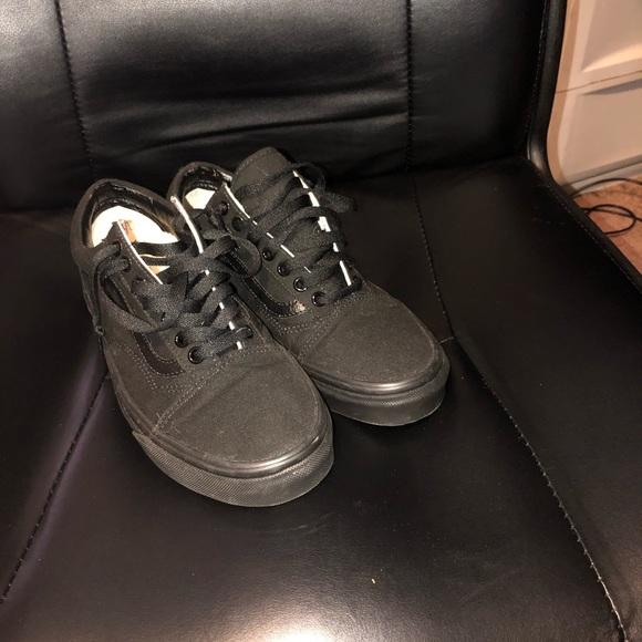 all black vans sale